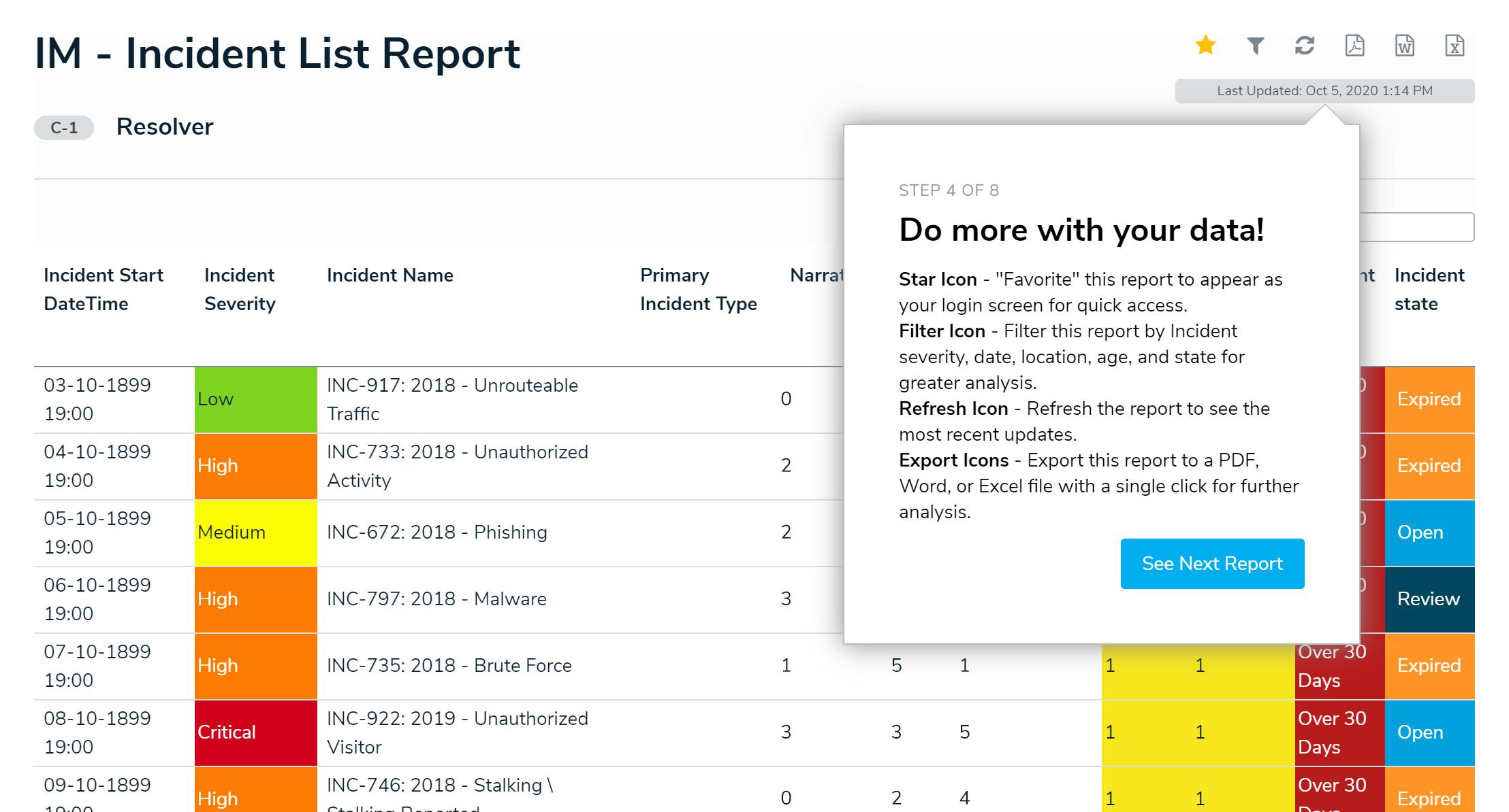 Resolver Incident Management screenshot